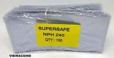 2000  SUPERSAFE SEMI-RIGID  MODERN SIZE CURRENCY SLEEVE  HOLDERS - #309