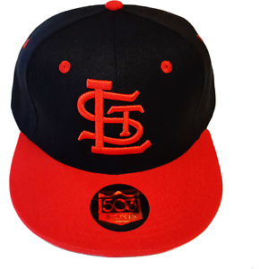 St-Louis-Browns-Black-and-Red-Fitted-Hat-STL-Baseball-Cap
