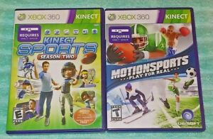 Motion-Sports-amp-Season-Two-Sports-XBOX-360-2-Game-Lot-Requires-Kinect-Sensor