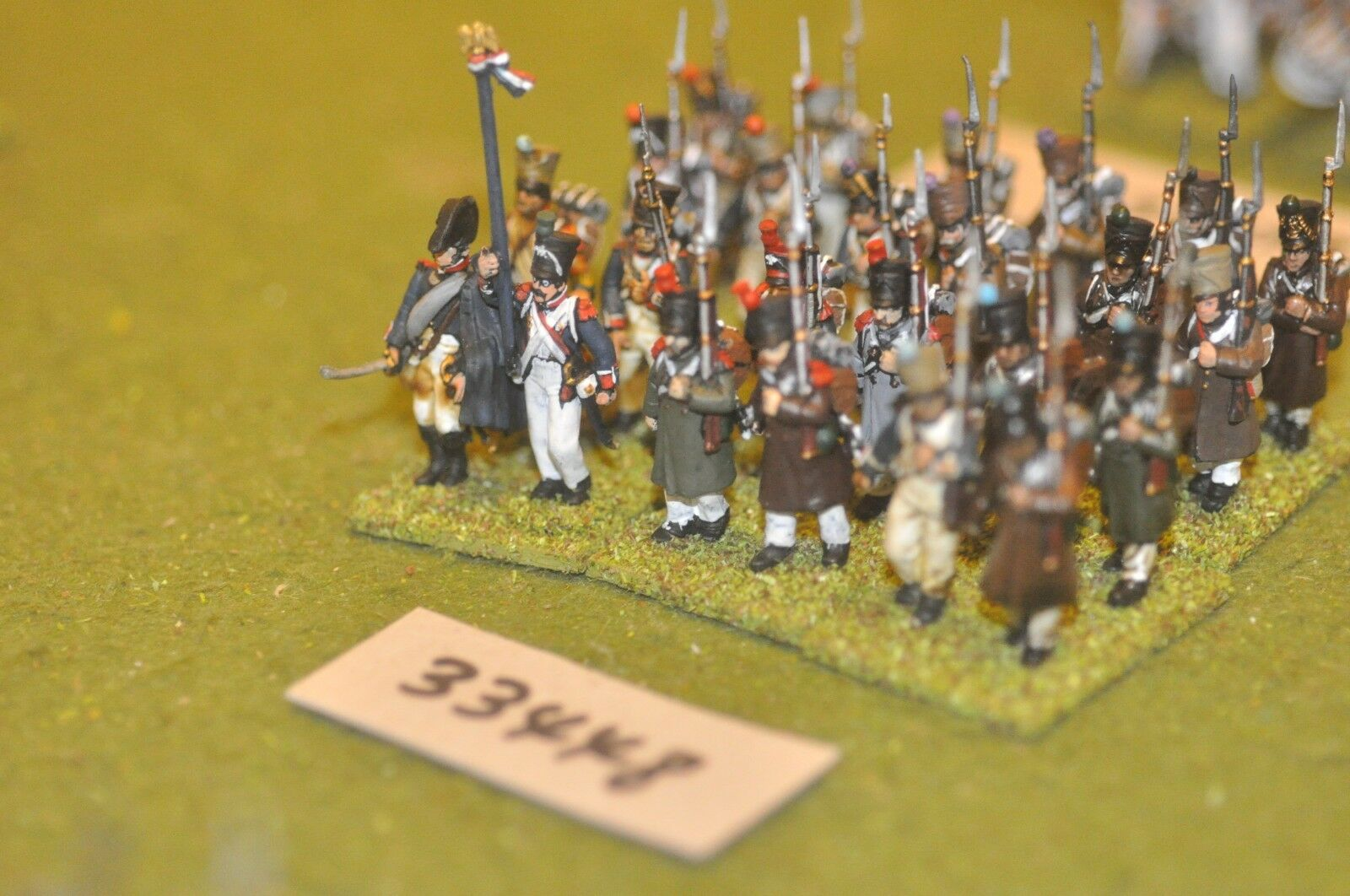 25mm napoleonic   french - line (plastic) 24 figures - inf (33448)