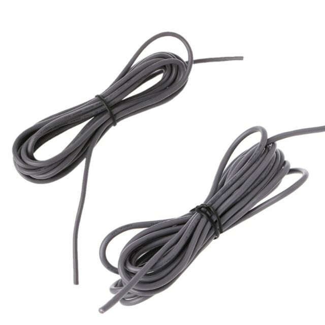 Grey 2-conductor 26awg Shielded Guitar Pickup Lead Wire 9ft Length ...