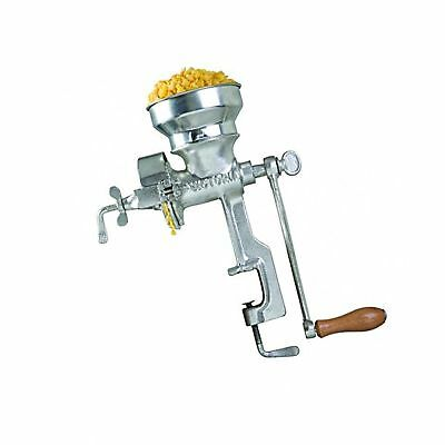 Professional Manual Grain Grinder Table Clamp Corn Mill with Hopper Cast Iron
