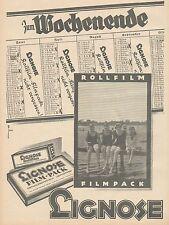 J1122 LIGNOSE Rollfilm & Filmpack - Pubblicità grande formato - 1927 Old advert