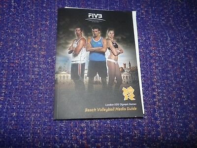 London 2012 Olympic Memorabilia Careful Olympic Games London 2012 Beach Volleyball Media Guide