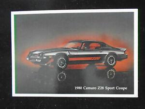1980-Camaro-Z28-Sport-Coupe-Postcard-Auto-Dealer-Advertising-Automobile-L-K