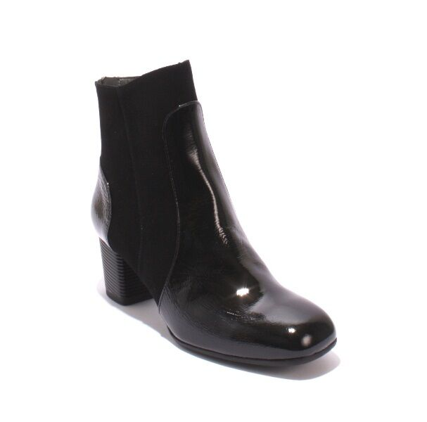 Gibellieri M4 Black Patent Leather Leather Leather   Suede Back Zip Ankle Booties 37   US 7 a14843
