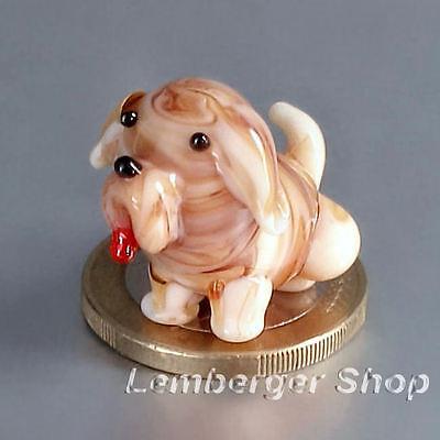 Tierfigur MINI Hund aus Glas handgefertigte Glasfigur Schönes Geschenk 2,5 cm