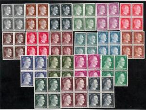 19-MNH-WWII-NAZI-3rd-REICH-HITLER-Blocks
