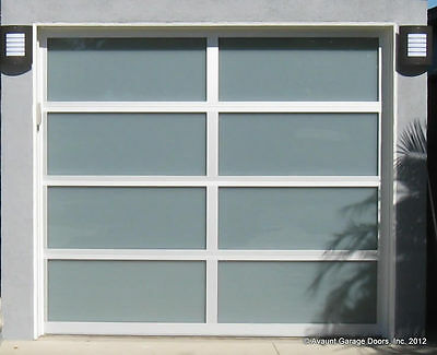 White Laminate Glass Garage Door, 10 X 10 Garage Door