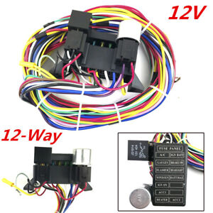 car truck 12 way circuit basic wire harness fuse box wiring Car Stereo Wiring Colors