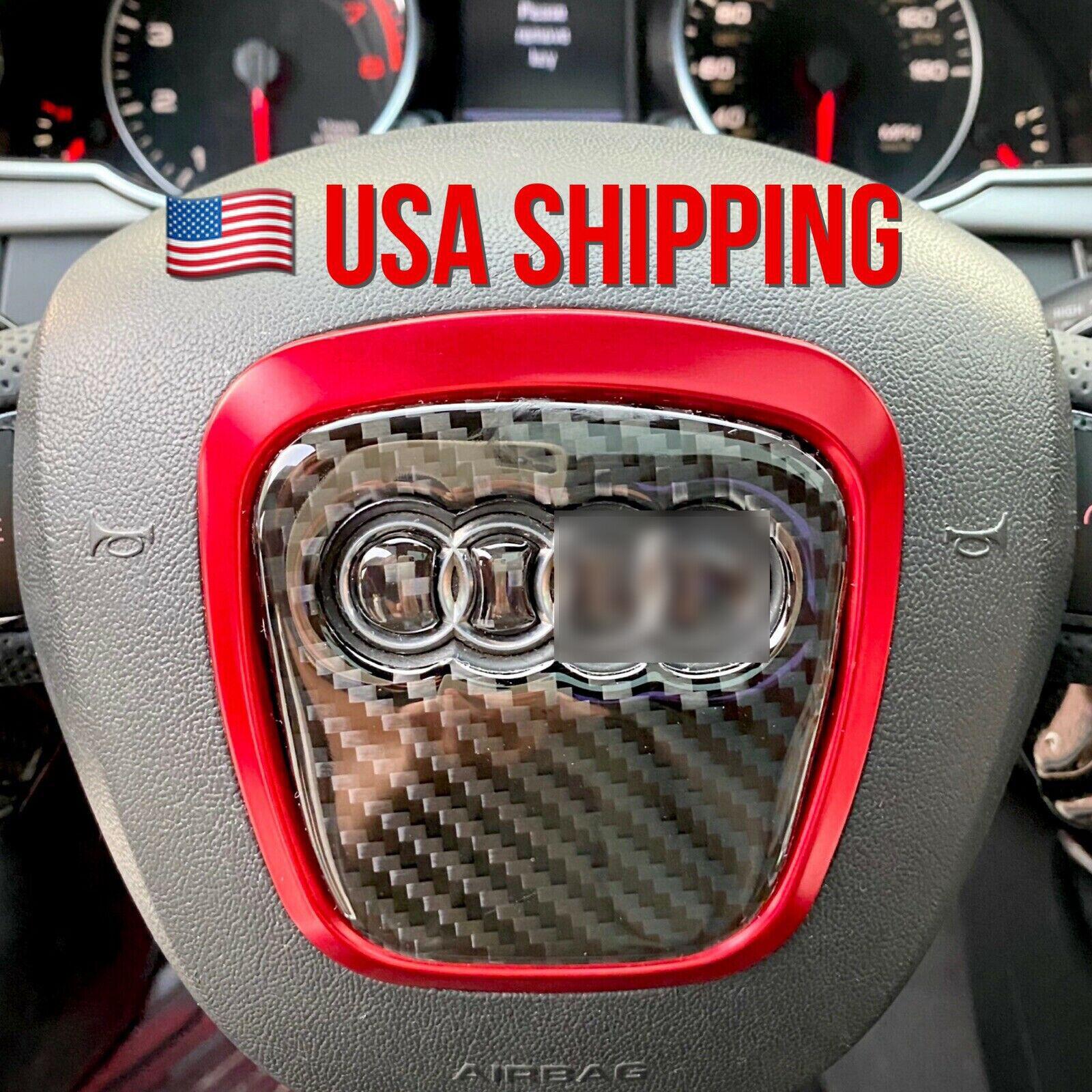 Audi Rs Steering Wheel Sticker Emblem Badge Black Metal For Sale Online Ebay
