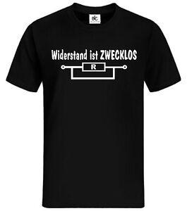 elektriker sprüche Widerstand ist Zwecklos T Shirt Fun Herrentag Kult Sprüche  elektriker sprüche