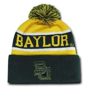 586699540a680 Green Baylor University BU Bears NCAA Winter Pom Cuff Knit Ski ...