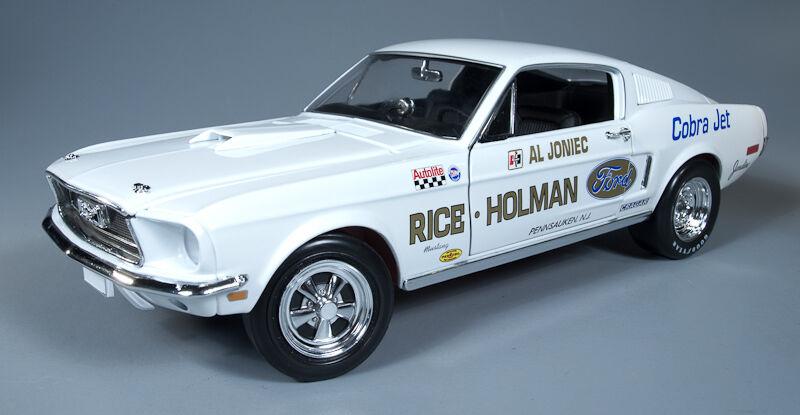 1968 Mustang Cobra Jet Super STOCK ARRASTRE COCHE al joniec 1 18 Auto World 203
