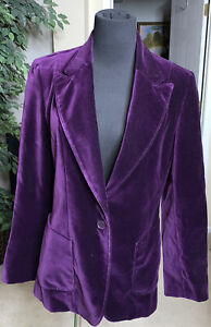 J Peterman Womens Purple Velvet Equestrian Dressage Blazer Tailored Sz 6