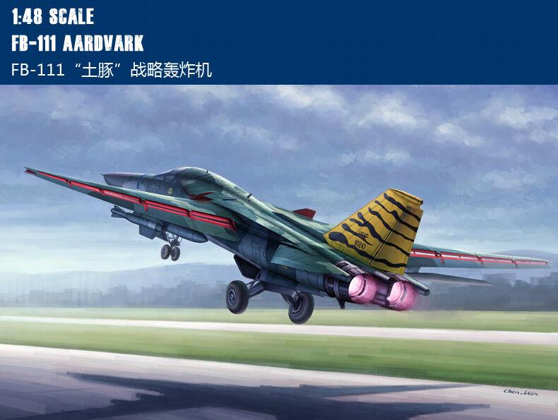 80351 Hobby Boss F-111 Cavy Aardvark Fighter-bomber Military Aircraft 1 48 Model