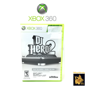 DJ-Hero-2-2010-Activision-Xbox-360-Video-Game-Disc-Case-Manual-Tested-Works-A