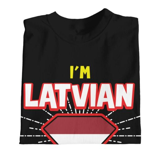 1Tee Kids Girls I/'m Latvian What/'s Your Superpower T-Shirt