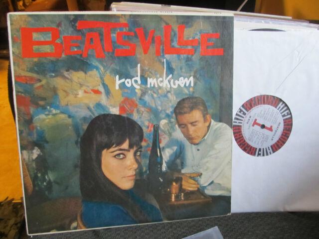BEATSVILLE RARE LP ROD McKUEN BEATNIK KEROUAC BEAT HI-FI JAZZ Art Folk R419 '59!