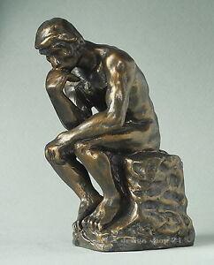 AUGUSTE-RODIN-Figur-034-Der-Denker-Le-Penseur-034-Skulptur-in-Geschenkarton
