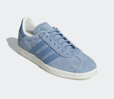 NEW NWT B37813 Adidas Gazelle Stitch & Turn Baby Blue Suede Grey Retro SZ 9 | eBay