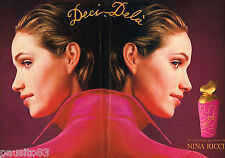 PUBLICITE ADVERTISING 055  1994  NINA RICCI  parfum DECI-DELA ( 2 pages)