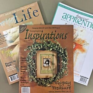 Lot-of-3-Stampington-magazines-Somerset-Life-Apprentice-Inspirations-craft-art