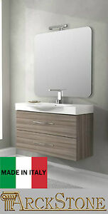 arckstone mobil badm bel modern h ngendes holz badewanne new york l rche 104 cm ebay. Black Bedroom Furniture Sets. Home Design Ideas