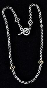 Konstantino-Clover-Chain-Toggle-18-034-Sterling-Silver-18K-Gold-1340-Sale-New