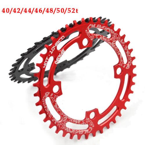 6.5mm Schrauben DECKAS 104BCD 40-52T Fahrrad Einzelnes Round Oval Kettenblatt