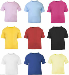 RW-Kids-Short-Sleeve-Plain-T-Shirt-for-School-Uniform-Girls-Children-SS088