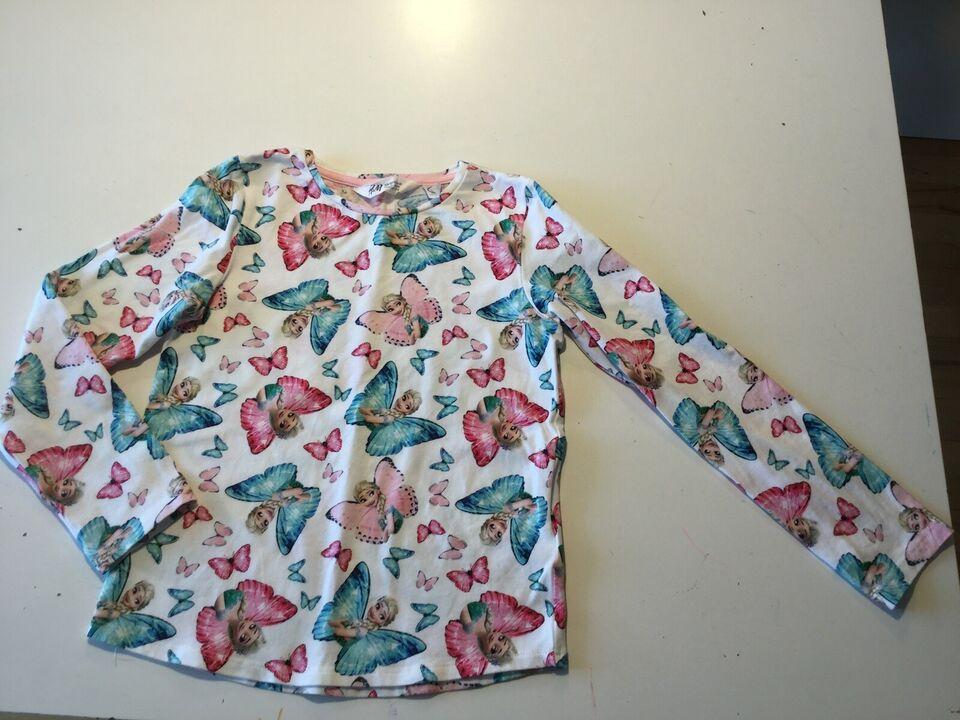 Bluse, Brugt 1 gang. Som ny. Frost/Elsa, H&M. Str 122/128