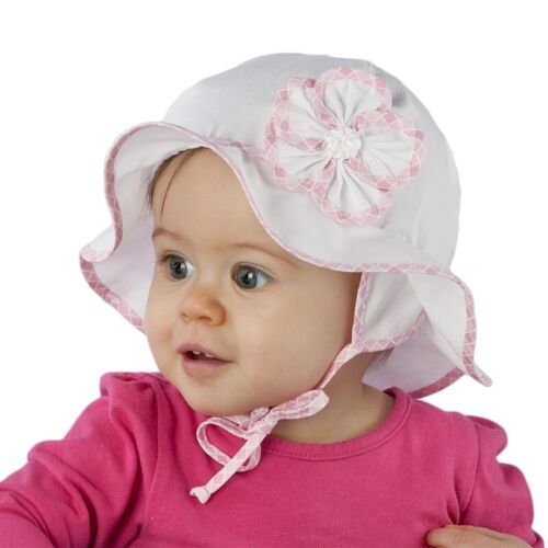 Marca nueva luz y aireado Verano Sombrero//gorra//sombrero para niña//Bebé//Niño Con Flor