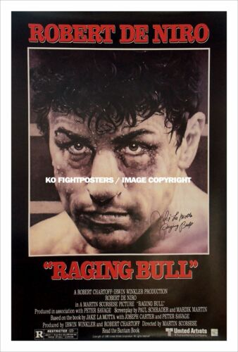 RAGING BULL JAKE LAMOTTA Signed Movie Poster