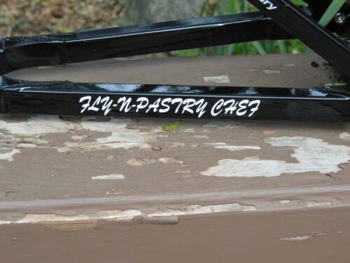"Custom Name Decal Sticker Triathlon Road Bike 1/"" x 7/"""