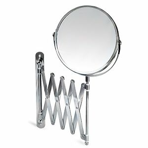 New-Premium-Wall-Mounted-Extending-Mirror-3-x-Magnification-Bathroom-Shaving
