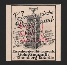 EISENBERG, Werbung 1898, Gebrüder Gienanth Eisenberger Hüttenwerke Öfen