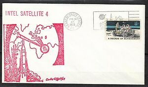 United States 1972 Jan 24 space cover Intelsat agreement NASA