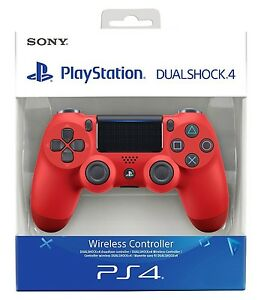 CONTROLLER-PS4-DUALSHOCK-4-ROSSO-PLAYSTATION-4-V2-NUOVO