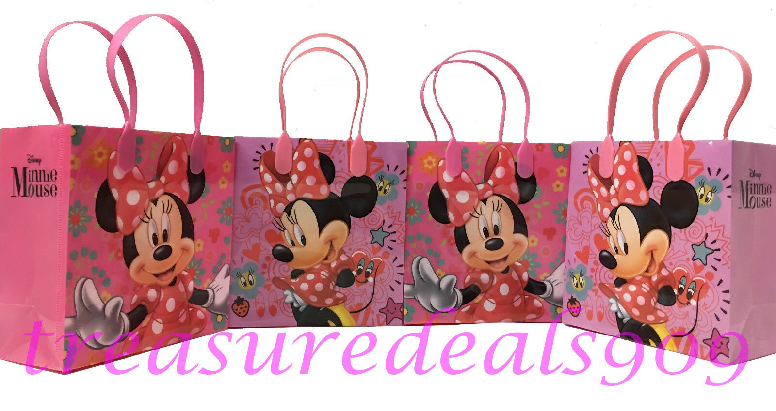 Details About 48 PC DISNEY MINNIE MOUSE GOODIE GIFT BAGS PARTY FAVORS CANDY TREAT BIRTHDAY BAG
