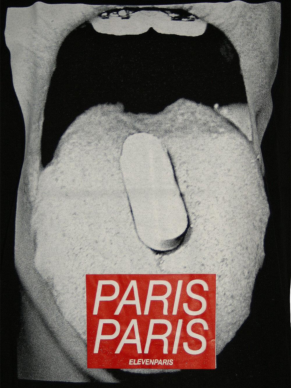 Meraviglioso Undici Parigi Parigi Parigi Donna Maglietta Top   Cachet   in Nero ff324c