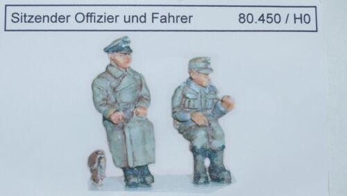 Artmaster 80.450 Sitzender Offizier und Fahrer H0 1:87 Figuren Resin unbemalt