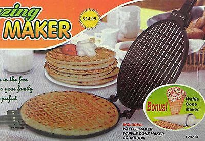 Waffel Maker Waffeleisen Waffle Cone maker Waffeln Waffelmaschinie Neu und OVP