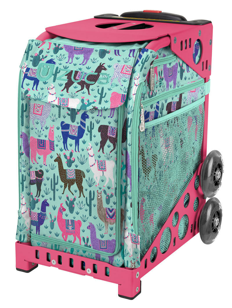 ZUCA Bag LLAMA RAMA Insert & Pink Frame w Flashing Wheels - FREE CUSHION