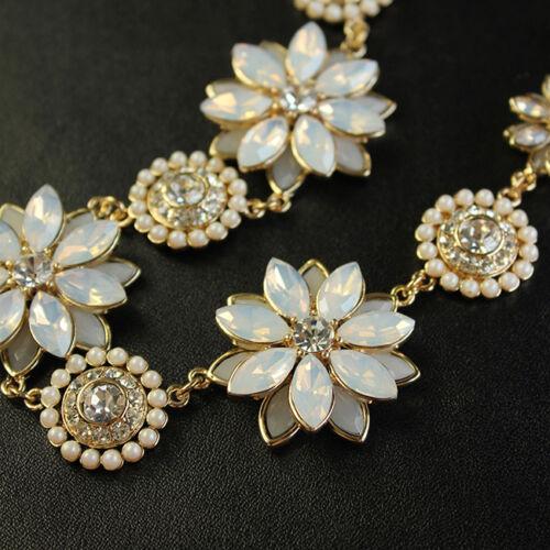 Collier Mini Perle Blanche Fleur Cremeuse Retro Original Soirée Mariage QT 9