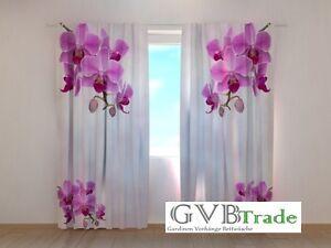 fotogardinen orchidee blumen fotovorhang vorhang. Black Bedroom Furniture Sets. Home Design Ideas