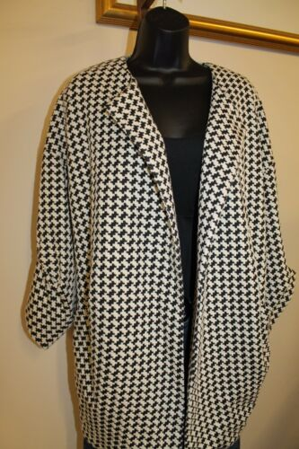 3 Sisters Jacket 3S990 S,M,L,XL Check Women/'s Coat Frock Wrap USA Made 5271