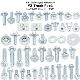BOLT Track Pack OEM type bolts /& fasteners kit for YAMAHA YZ125 YZ250  98-15