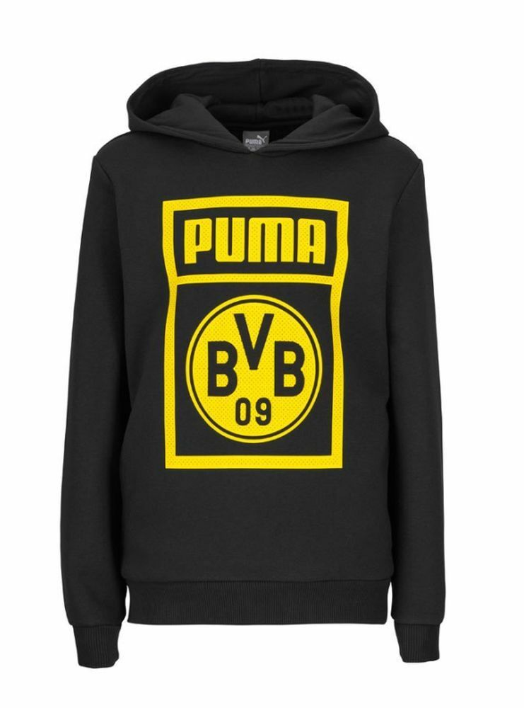 Puma Kids Football Soccer Borussia Dortmund BVB Hoodie Sweatshirt Long Sleeve To