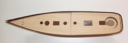 wood deck for model 1:56 Revell yacht USS America